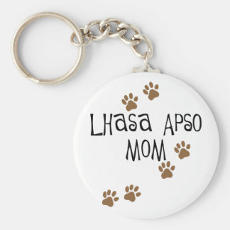 Lhasa Apso Mom Key Ring