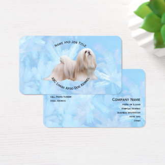 Lhasa Apso on Blue Crystal Business Card