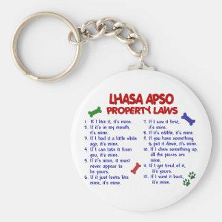 LHASA APSO Property Laws 2 Basic Round Button Key Ring