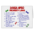 LHASA APSO Property Laws 2 Card