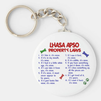 LHASA APSO Property Laws 2 Keychains