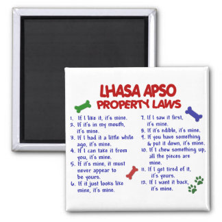 LHASA APSO Property Laws 2 Magnet