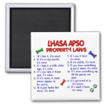 LHASA APSO Property Laws 2 Square Magnet
