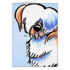 Lhasa Apso Red Parti Off-Leash Art™ Card