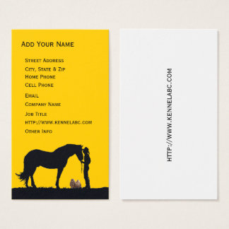 Lhasa Apso Western Silhouette Business Card