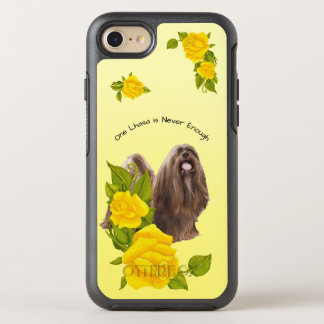 Lhasa Apso, with Yellow Roses OtterBox Symmetry iPhone 8/7 Case