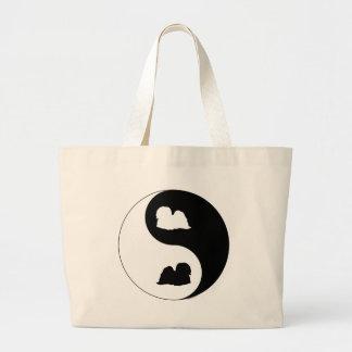 Lhasa Apso Yin Yang Large Tote Bag