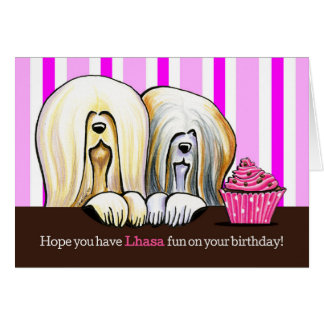 Lhasa Birthday Fun Card