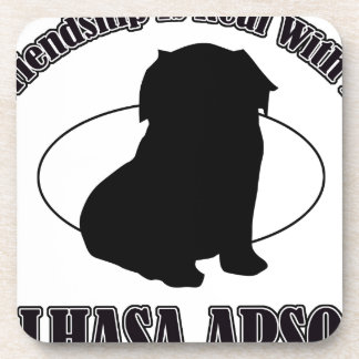 LHASO APSO DOG DESIGNS BEVERAGE COASTERS