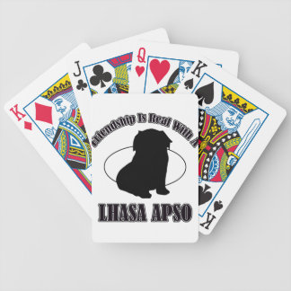 LHASO APSO DOG DESIGNS BICYCLE POKER CARDS