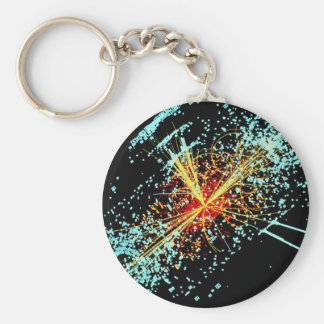 LHC Collision Basic Round Button Key Ring