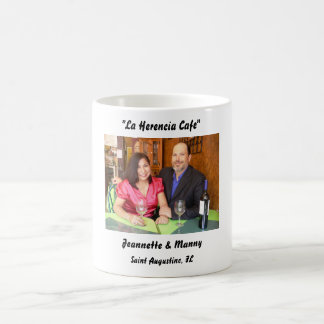"""LHCP 018, """"La Herencia Cafe"""", Jeannette & Manny... Mugs"""
