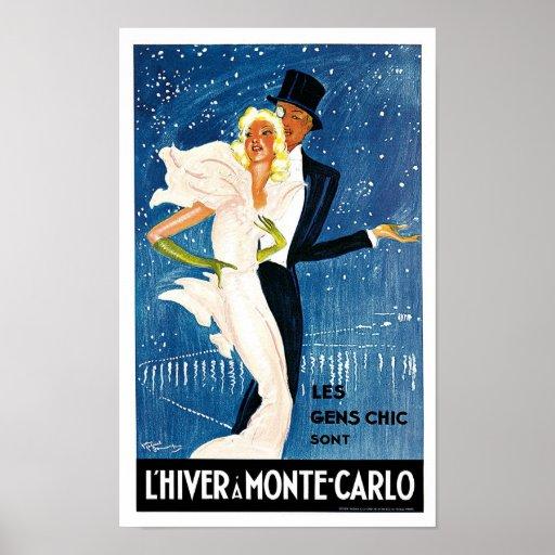 L'Hiver a Monte Carlo Print