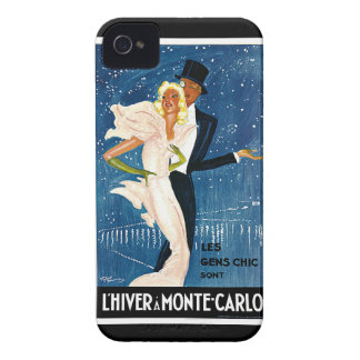 L'Hiver a Monte-Carlo Vintage Travel Advertisement Case-Mate iPhone 4 Case
