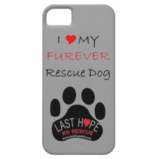 LHK9 Rescue iPhone 5 Grey Love my Furever Rescue iPhone 5 Cases