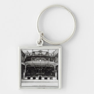 L'Hotel de Paiva on the Champs-Elysees Silver-Colored Square Key Ring