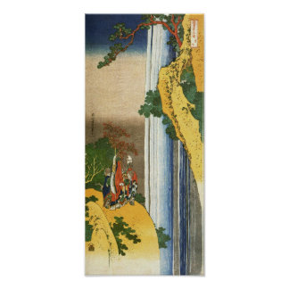 Li Po at Waterfall Lo-Shan Hokusai Fine Art Poster