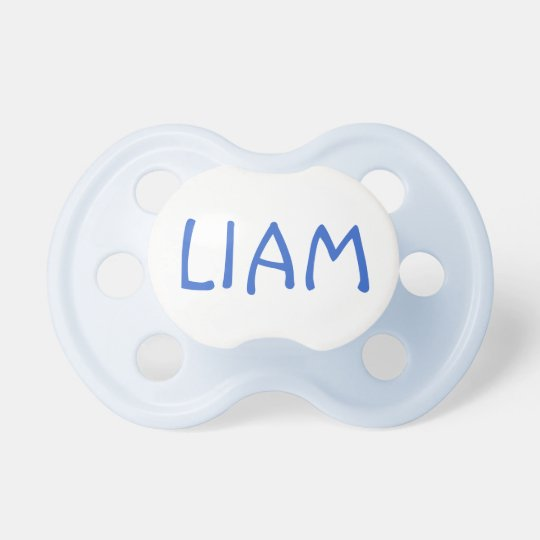 Liam Custom Name Boy's Infant Pacifier