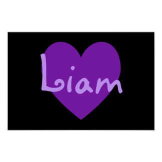Liam in Purple Poster