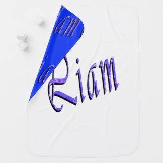 Liam, Name, Logo, Snugly Reversible Baby Blanket
