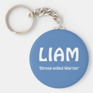 LIAM, 'Strong-willed Warrior' Basic Round Button Key Ring