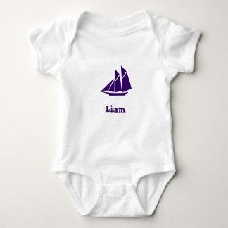 Liam's boat baby bodysuit