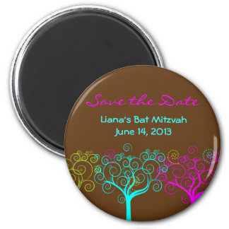 Liana Claire Bat Mitzvah Save the Date Magnets