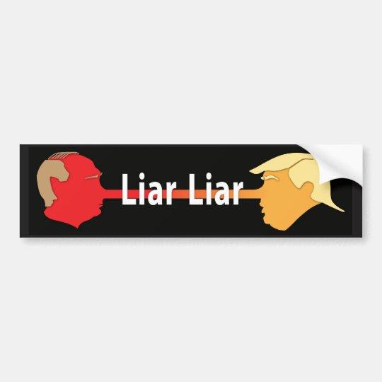 Liar Liar (on black) Bumper Sticker