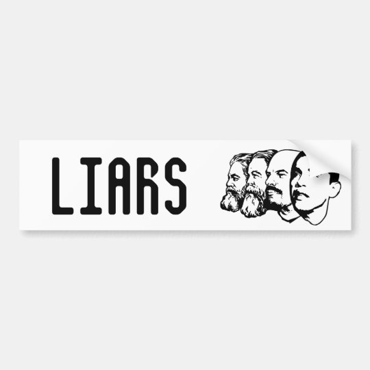LIARS bumper sticker