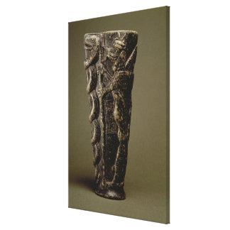 Libation goblet of Prince Gudea, dedicated to his Canvas Print