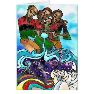 'Libation' Kwanzaa greeting card