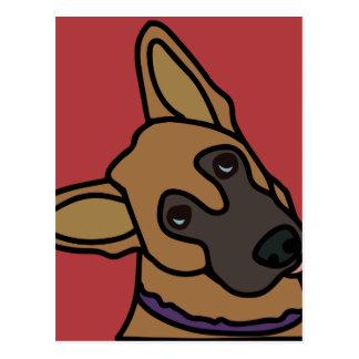 Libby the German Shepherd Dog Cartoon Postcard