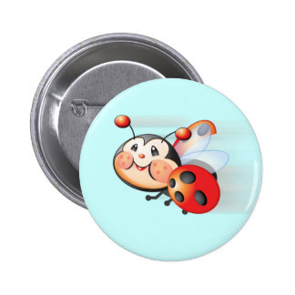 Libby the Ladybug Button