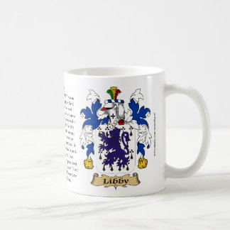 Libby, the Origin, the Meaning and the Crest Coffee Mug