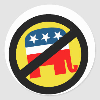 Liberal / Anti-Republican Round Sticker
