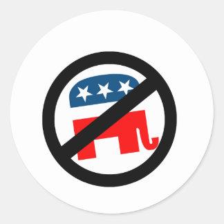 Liberal / Anti-Republican Round Sticker