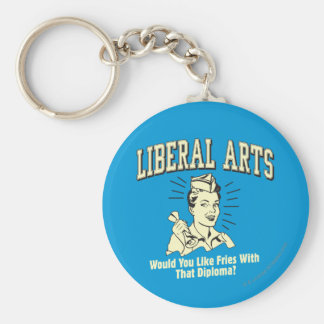 Liberal Arts: Like Fries With Diploma Basic Round Button Key Ring