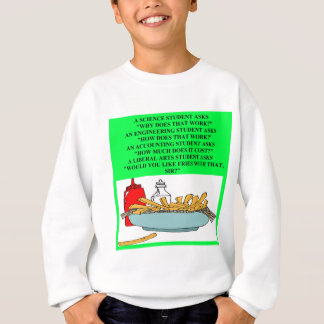 liberal arts science fast food joke sweatshirt