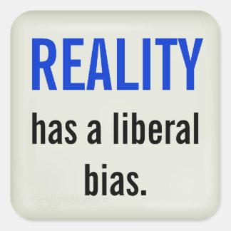 Liberal bias sticker - raised