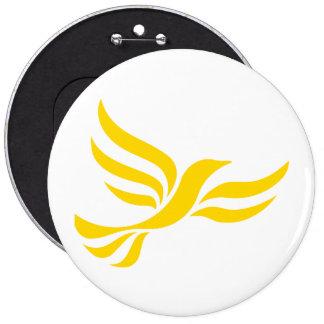 Liberal Democrats Logo 6 Cm Round Badge