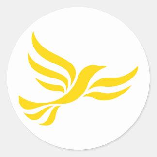 Liberal Democrats Logo Round Sticker
