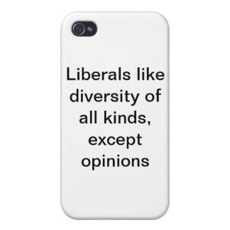 Liberal Diversity Issues iPhone 4 Case