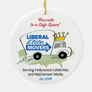 Liberal Elite Movers Christmas Ornament