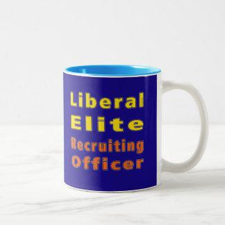 Liberal Elite Recruiting Officer (Metropolitan) Two-Tone Coffee Mug