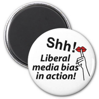Liberal Media Bias 6 Cm Round Magnet