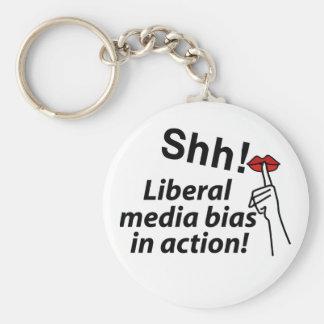 Liberal Media Bias Basic Round Button Key Ring