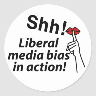 Liberal Media Bias Classic Round Sticker