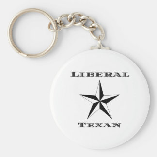 Liberal Texan Black and White Basic Round Button Key Ring