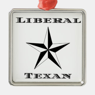 Liberal Texan Black and White Christmas Ornament
