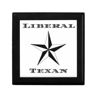 Liberal Texan Black and White Small Square Gift Box